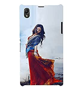 EPICCASE Traditional Look Girl Mobile Back Case Cover For Sony Xperia Z1 (Designer Case)