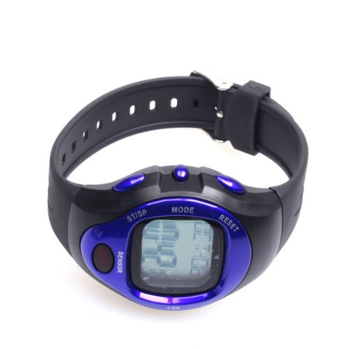 BestDealUK Beautiful Calorie Counter Pulse Heart Rate Monitor Stop Watch Blue
