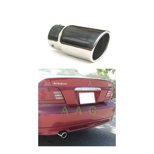 Stainless steel exhaust tip w/ mirror polish finish   Mitsubishi Galant 99 01