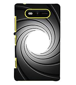 Print Haat Back Case for Lumia 820 (Multi-Color)