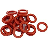 Sellify 20pcs 24mm X 16mm X 3mm O-Ring Hose Gasket Silicone Washer For Water Heater