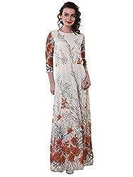 Purys Women's Maxi Dress (E-150687SP7237_Ivory Multi_M)