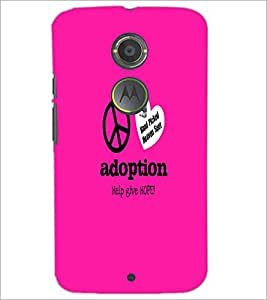 PrintDhaba Quote D-5586 Back Case Cover for MOTOROLA MOTO X2 (Multi-Coloured)