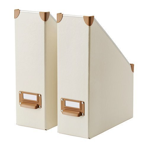 Ikea Fjälla Magazine File, Off White 2 Pack