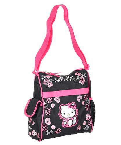 hello kitty mini diaper bag black pink one size designer nappy bags. Black Bedroom Furniture Sets. Home Design Ideas