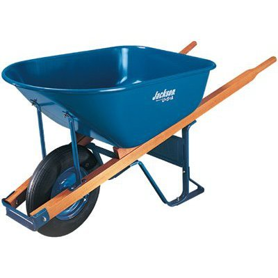 Jackson M6T22BB 6-Cubic-Foot Wheelbarrow