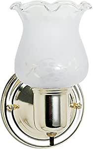 Nuvo SF77/120B Polished Brass Frosted Grape Shade With Frosted Glass With On/Off Switch