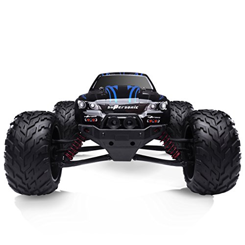 HOSIM All Terrain RC Car S911, 33+MPH 1/12 Scale Radio Controlled Electric Car - Offroad 2.4Ghz 2WD Remote Control Truck - Best Christmas Gift for Kids and Adults (Blue) (Grasshopper Remote Control Car compare prices)