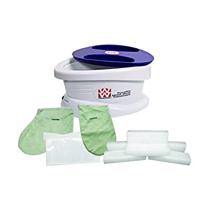 WaxWel 11-1605 Paraffin Bath Unit Includes 6 lb, Citrus Paraffin, 100 Liners, 1 Mitt and 1 Bootie