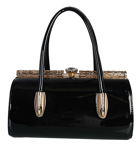 rimen-cofashion-patent-pu-leather-kiss-lock-structured-womens-purse-handbag-accented-with-removable-