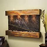 Adagio Sunrise Springs Wall Fountain Rainforest Green Marble Rustic Copper - SSS1005