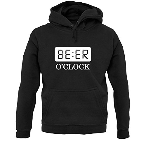 Dressdown Beer O Clock - Unisex Hoodie-Black-Small (Beer O Clock compare prices)