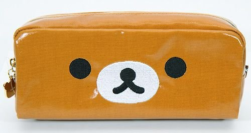 brown pencil case with bear face San-X from Japan