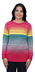Romano Multi-Coloured Winter Warm Wool Pullover Sweater for Women