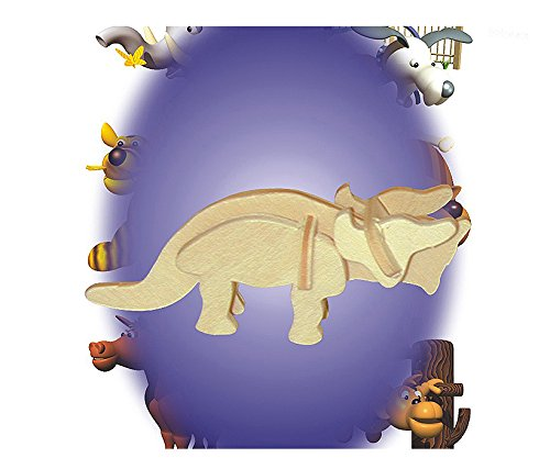 Puzzled Triceratops Mini 3D Puzzles (7 Piece) - 1