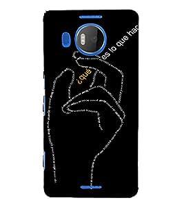 EPICCASE Hand symbol case Mobile Back Case Cover For Microsoft Lumia 950 XL (Designer Case)