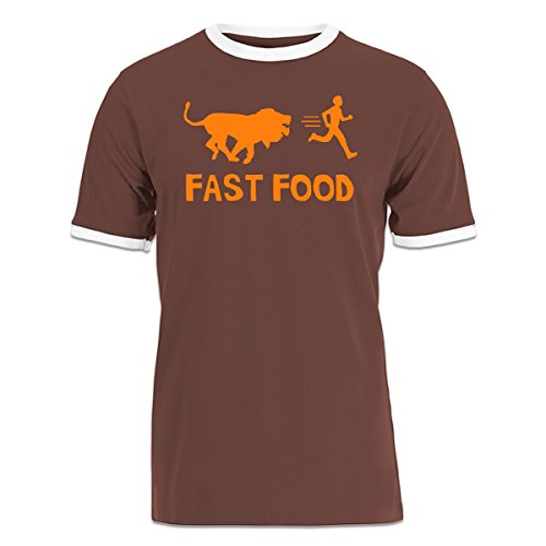 camiseta-contraste-fast-food-lion-human-by-shirtcity