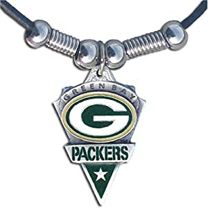 NFL Green Bay Packers Leather Cord Necklace from Siskiyou