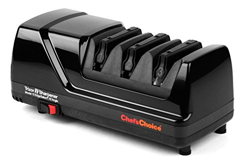 chef 39 s choice trizor xv edgeselect sharpener brushed metal dealtrend. Black Bedroom Furniture Sets. Home Design Ideas
