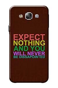 Samsung Galaxy E7 Back Cover Kanvas Cases Premium Quality Designer 3D Printed Lightweight Slim Matte Finish Hard Case for Samsung Galaxy E7