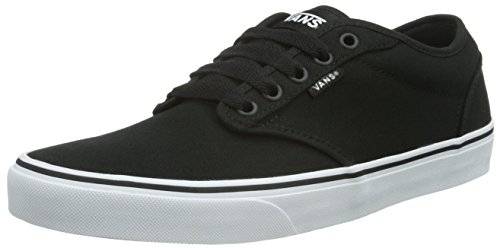 vans-atwood-mens-trainers-black-white-canvas-12-uk-47-eu