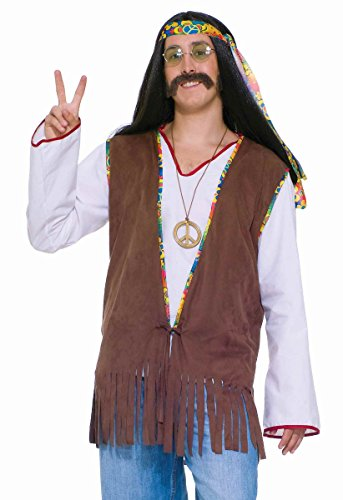 Faux Suede Hippie Vest Costume Case of 1