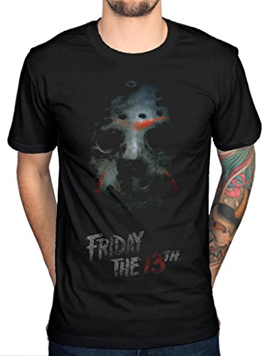 """Official """"Friday The 13th Mask"""" Jason-Movie Film Horror TV Series nero X-Large"""