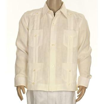 Boys linen guayabera shirt in ivory. Final sale