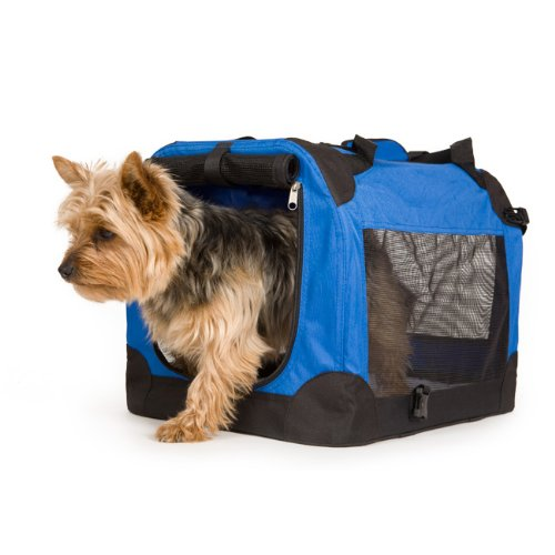 heavy-duty-dog-travel-crate-collapsible-blue-dog-carrier-small-49x34cm