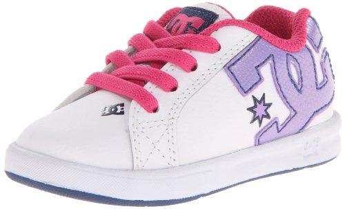 Dc Court Graffik Elastic Ul Skate Shoe (Toddler),White/Palace Blue,10 M Us Toddler front-914321
