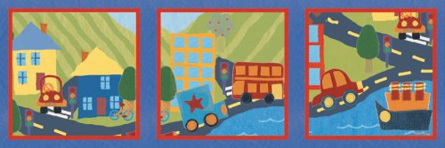 "Art 4 Kids ""Around Town Series"" Mounted Art Print, 36""X12"""