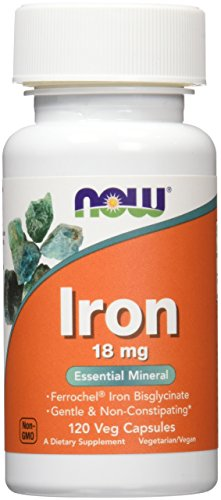 Now Foods Iron 18mg Ferrochel, Veg-capsules, 120-Count (Iron Capsules compare prices)