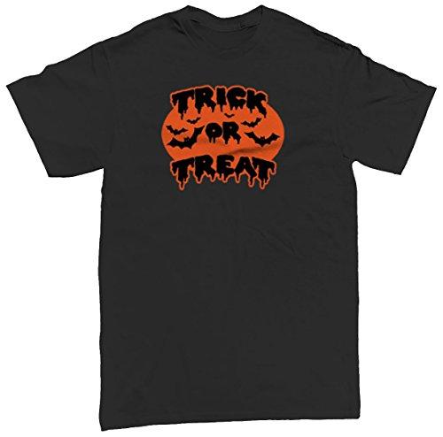 Trick Or Treat Bats Men's T-shirt, SpiritForged Apparel, Black Small (Spirit Halloween Sf)