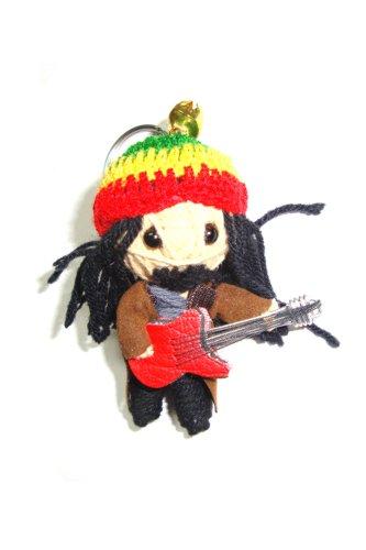 Bob Marley Voodoo String Doll Keyring Keychain