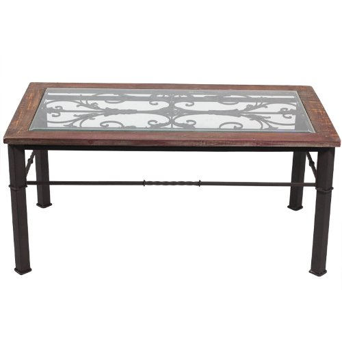 Benzara ETD-EN50101 Stunning and Elegant Wooden Coffee Table