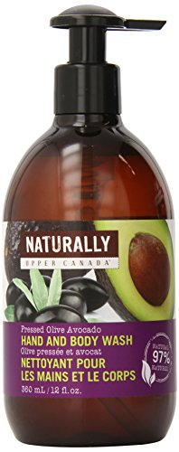 Upper Canada Soap And Candle Naturally Wholesome Hand And Body Wash, Pressed Olive Avocado, 12 Ounce Bottle (Naturally Upper Canada Lotion compare prices)