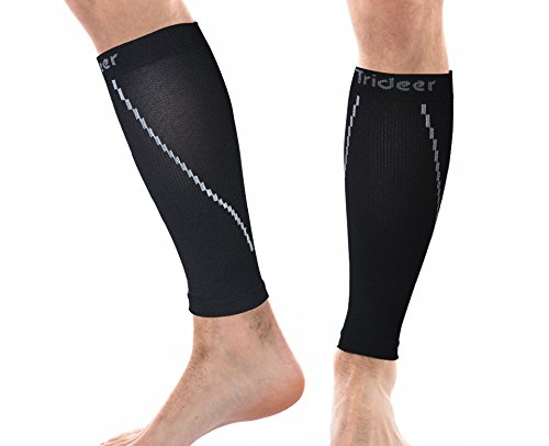 (1 Pair) Trideer Calf Compression Sleeve - Leg Compression Socks for Sports Men and Women - Calf Guard Shin Splints Sleeves, Suitable for Training, Running, Walking, Cycling, Basketball, Baseball