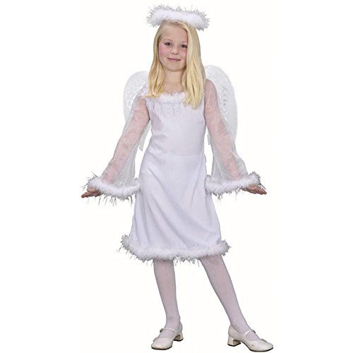 Kid's White Angel Costume (Size: Medium 7-10)
