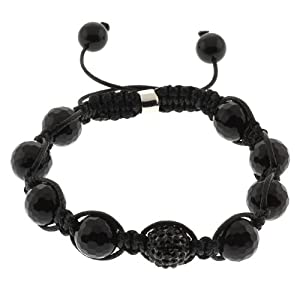 10mm Disco Ball Dia-Cut Adjustable Shamballa Bracelet