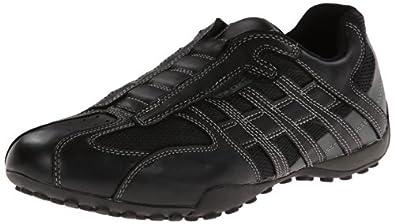 Geox UOMO SNAKE L, Herren Sneakers, Schwarz (C9204BLACK/LEAD), 40 EU
