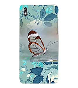 ColourCraft Beautiful Butterfly Design Back Case Cover for HTC DESIRE 816
