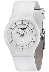 Skagen Women's 233XSCLW Ceramic Mother-Of-Pearl Dial Watch