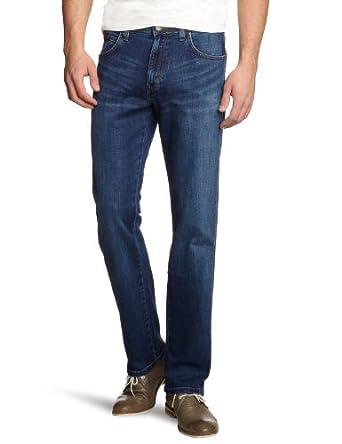 WRANGLER Arizona Stretch Straight Men's Jeans Burnt Blue W30INxL32IN