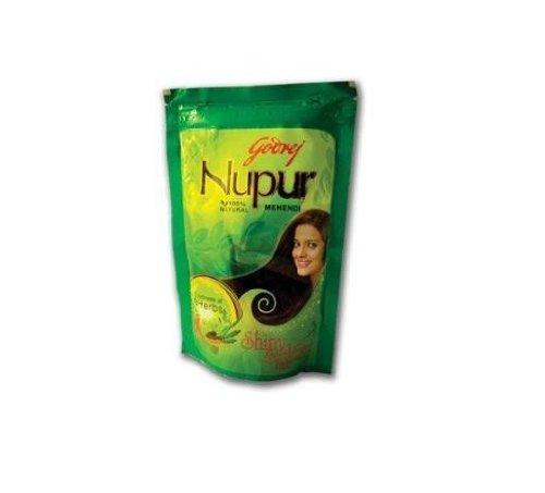 Godrej Nupur Mehendi Powder 9 Herbs Blend, 150-gram