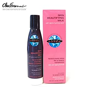 Clear Essence Skin Beautifying Milk with Alpha Hydroxy Acid, 4 Ounce