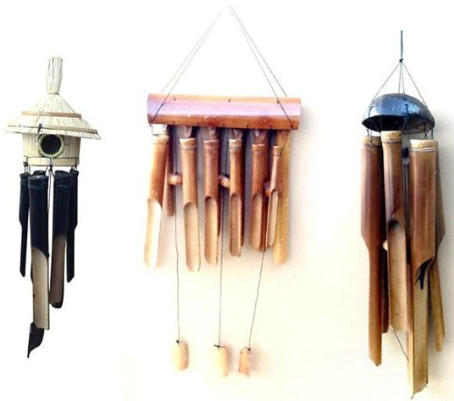 Hand-Crafted Wooden Wind Chimes - Various Models Available - Fair Trade - £9.99 each!