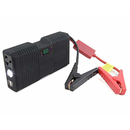 LB1 High Performance 750Amp Peak, 21000mAh Portable Jump Starter with 100W AC Inverter for Cars, Trucks, SUV, Van, Motorcycles, High Capacity Power Bank Battery Pack, Laptop Charger, LED Flashlight (Peak Jump Starter 750 compare prices)