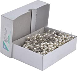 Cox White Pearl Head Pins - 1.5inch (Pack of 1000 pins)