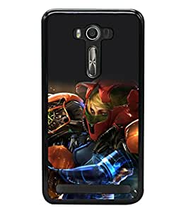 printtech Anime Fantasy Girl Warrior Back Case Cover for Asus Zenfone 2 Laser ZE550KL ,Asus Zenfone 2 Laser ZE550KL (5.5 Inches)