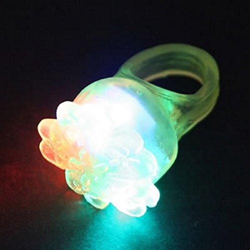 Shining Toy Flash Flower Ring 36 pieces 光るおもちゃ フラッシュフラワーリング 36入